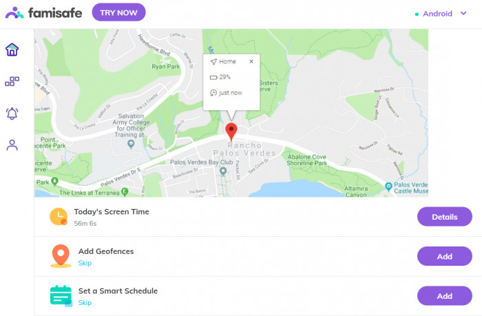 FamiSafe location tracker