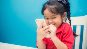 kid using a phone