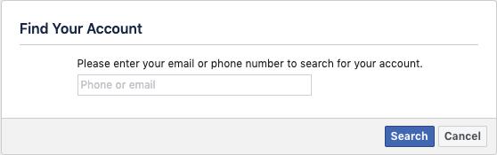 resetting facebook password
