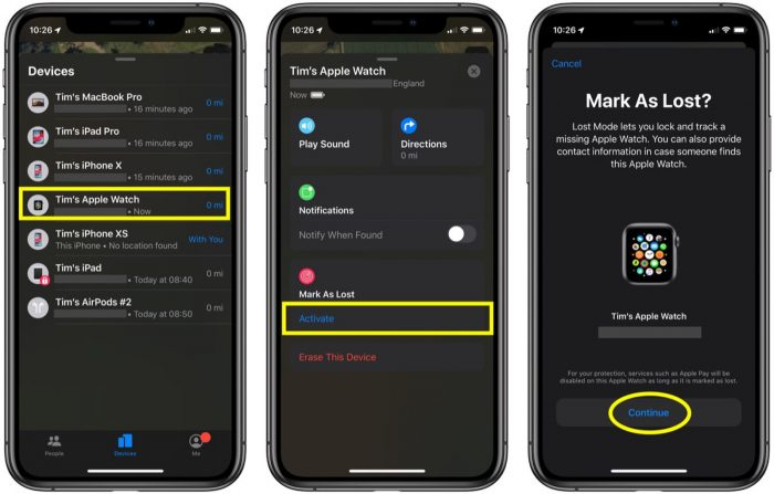 find iphone with the help of apple watch