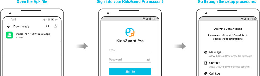 Kidsguard Pro steps to download