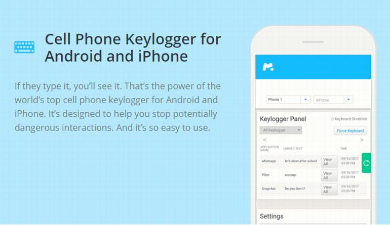 mSpy Cell Phone Keylogger
