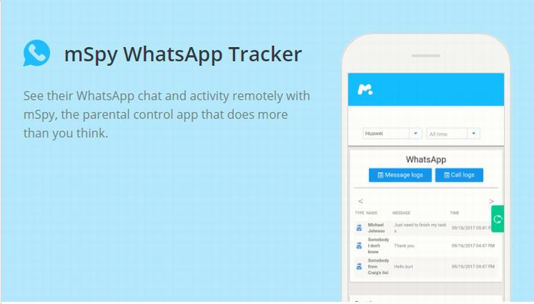mSpy WhatsApp Tracker