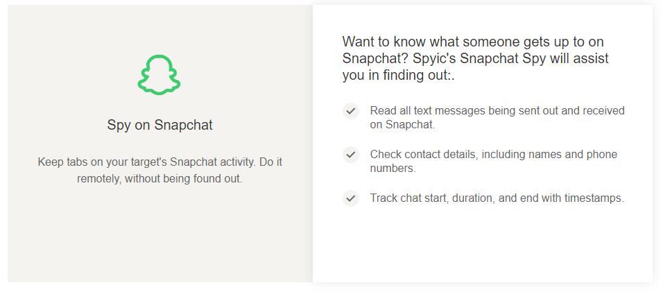 spyic snapchat spy