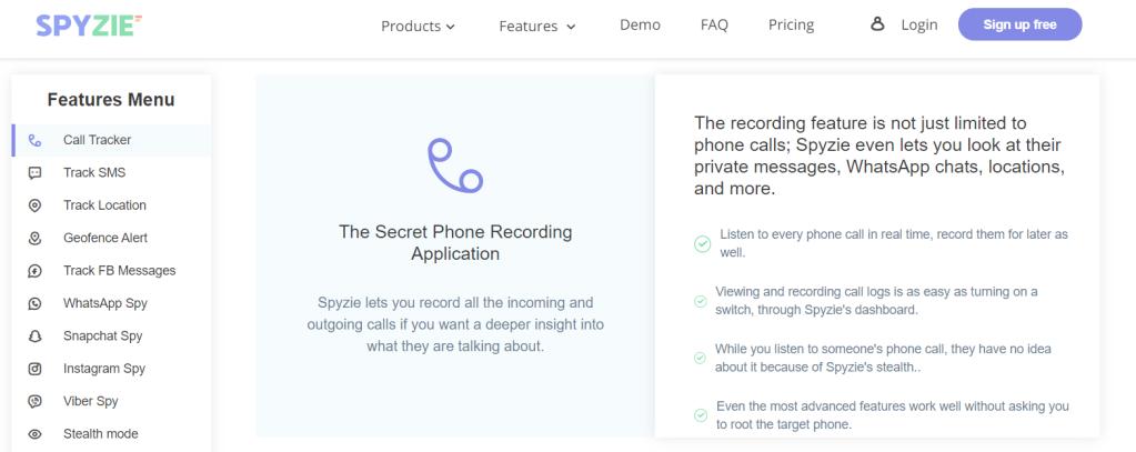 spyzie spy app homepage