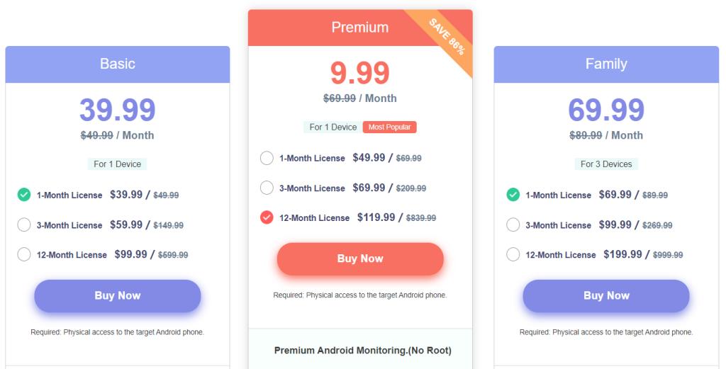 spyzie phone monitoring app prices