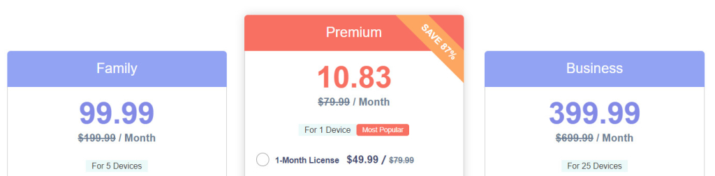 Spyzie iOS pricing