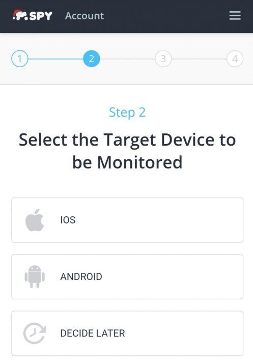 mspy select target device