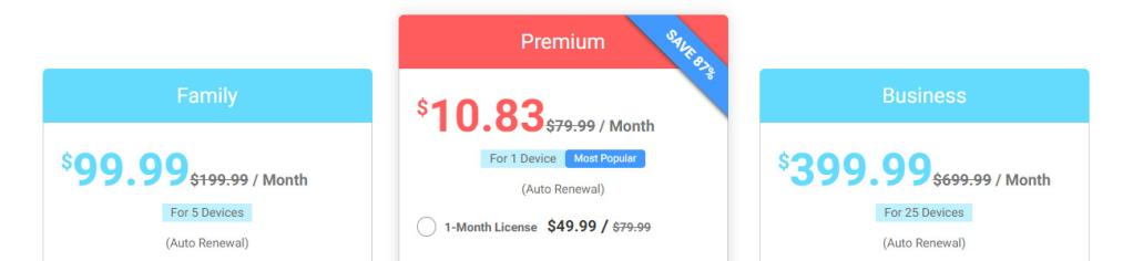 Cocospy iOS pricing