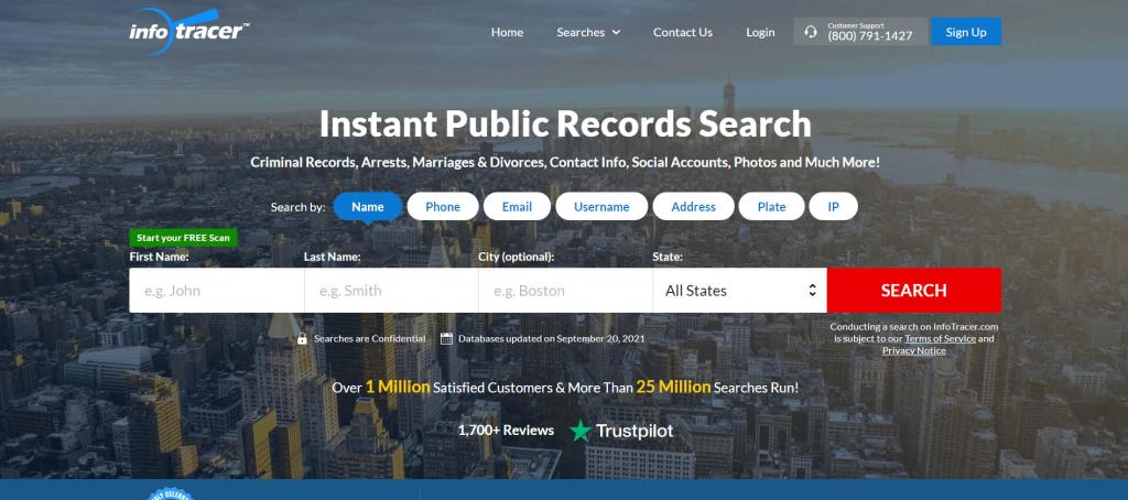 InfoTracer address lookup